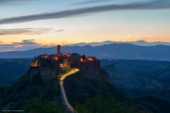 Civita di Bagnoregio (VT) (Mirko Chessari) Tags: italy viterbo civitadibagnoregio lazio borgo village sunrise mountains landscape scenic citylights dusk