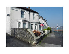 flag at 54 (chrisinplymouth) Tags: house terrace flag unionjack cattedown plymouth devon england uk city diagx diagonal xg cw69x princerock