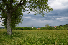 Termps d'orage (Croc'odile67) Tags: nikon d3300 sigma contemporary 18200dcoshsmc paysage landscape arbres trees ciel cloud sky nuage orage clocher