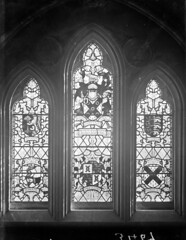 Sir Henry Page Turner - seriously ;-) (National Library of Ireland on The Commons) Tags: ahpoole arthurhenripoole poolecollection glassnegative nationallibraryofireland waterford henrypageturner stainedglasswindow coatsofarms obrien churchofthesacredheart ferrybank churchofthesacredheartferrybank ferrybankchurch locationidentified