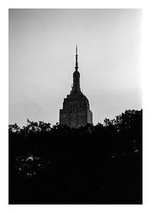FILM - Empire State (fishyfish_arcade) Tags: 35mm analogphotography bw blackwhite blackandwhite canonsureshotz135 filmphotography filmisnotdead hp5 istillshootfilm monochrome newyork analogcamera compact film ilford mono empirestatebuilding skyscraper