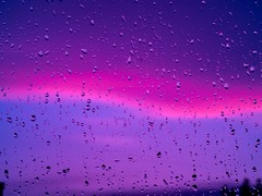 Colorful sky after strong rain (alven.trenner.k.k) Tags: sky colorul colourful clouds drops waterdroplets rain raindrops reflection window magenta purple purpleclouds magentaclouds micro43 mirrorlesscamera photography skyphotography cloudphotography cloudyday olympusphotography olympusomdem10markiii 75mm
