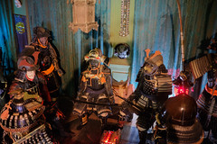 Several Samurai (Hector Patrick) Tags: fujifilmx100f fuji flickrelite japanese samurai armour snowshill colors colourful historic