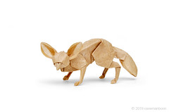 Fennec Fox / Desert Fox (cavemanboon*) Tags: boon fennecfox desertfox フェネックギツネ origami paperfolding 折り紙 cavemanboon singapore malaysia