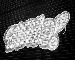 Graffiti (OwenSPhotography) Tags: artwork art graffiti wall lancashire england whites blacks photography photo white black monochrome mono
