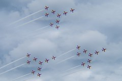 27  REDS (Russell Photographic Images) Tags: smcpentaxm11450mm redarrows red formation manual manualfocus pentax oldwarden bedfordshire singleexposure hoya 3xmultivision