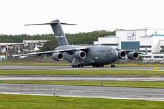 C17  66157 (TF102A) Tags: aviation aircraft airplane usaf usairforce prestwick prestwickairport c17 66157