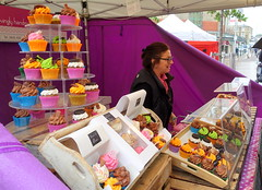 Cup Cake Stall (Tony Worrall) Tags: foodfestivals food foodies festival event show stall display colours accringtonfoodfestival2019 accrington outdoor cupcakes sweet sugar colors bake cake kids colourful stand