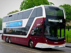 Lothian Buses 1100 (SJ19OXT) - 31-05-19 (02) (peter_b2008) Tags: lothianbuses lothiancity edinburgh volvo b8l alexanderdennis adl enviro400lxb 1100 sj19oxt triaxle buses coaches transport buspictures