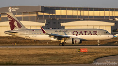Malta International Airport (Redeemer_Saliba) Tags: qatar airways airbus a320232 a7aht landing lmml luqa airport rwy 31