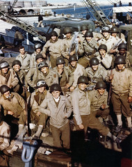 D Day June 6, 1944 (Photographybyjw) Tags: ddayjune6 1943 these american troops have loaded their equipment onto an lct waiting signal for assault against continent