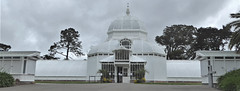 San Francisco, Golden Gate Park, Conservatory of Flowers (Mary Warren 13.5+ Million Views) Tags: sanfranciscoca conservatoryofflowers goldengatepark nature flora plants green leaves foliage architecture building conservatory trees sky clouds