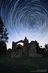Startrail alla vecchia chiesa (antoniopedroni photo) Tags: startrail church abandoned vecchia chiesa stars summer sky stelle night photography notturna notte