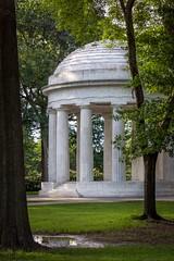 Tribute (BenBuildsLego) Tags: washington dc war memorial monument neoclassical classical architecture dome world i trees dawn sunrise column columns greek roman sad