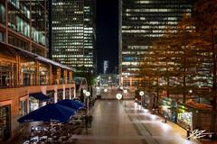 Clock Town (TVZ Photography) Tags: hdr highdynamicrange canarywharf london sixpublicclocks city cityscape trees lights night evening longexposure lowlight sonya7riii zeiss loxia 21mm