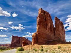 Arches National Park, Utah (__ PeterCH51 __) Tags: usa america amerika iphone peterch51 utah moab archesnationalpark landscape scenery landschaft courthousetowers beautifulview redcliffs redrocks