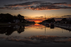 Reflections of Bude (Tracey Whitefoot) Tags: 2019 may tracey whitefoot wharf lower bude cornwall north coast sunset reflections reflection reflected water calm still dusk boat boats uk