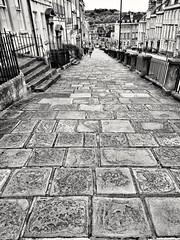 Crazy paving.... (nigethorpe) Tags: huaweip20lite huawei huaweiphotography blackandwhite blackwhite monochrome mono mobilephone mobile cellphone cameraphone phonecamera snapseed bath street bnw mobilephoto huaweicamera