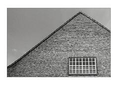 Brick house (K.Pihl) Tags: olympusom1 windows kodaktmax400 monochrome rodinal1100 aarhus house standdevelopment pellicolaanalogica schwarzweiss bw blackwhite analog film