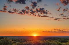 St. Croix State Park Fire Tower Sunrise (Tony Webster) Tags: june minnesota saintcroixstatepark stcroixstatepark clouds firetower observationtower sky statepark sunrise trees crosbytownship unitedstatesofamerica