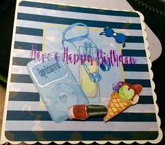 Hand made Birthday card for a teen (margaret.pilkington47) Tags: handmadecard teenbirthday music personal ipod icecream nailpolish