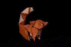Red Panda (Djangorigami) Tags: france savoie bellecombeenbauges red sculpture cute art animals paper origami panda artist handmade duo thai fold mammals