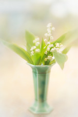Lily of the Valley in vase (judy dean) Tags: judydean 2019 lensbaby texture ps lilyofthevalley white flowers vase