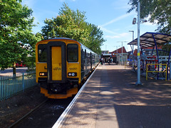 150207 Exmouth (2) (Marky7890) Tags: gwr 150207 class150 sprinter 2t24 exmouth railway devon avocetline train