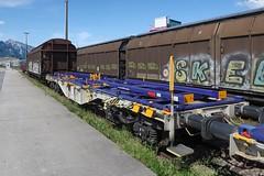 Buchs SG - Container Car Sgmmns 40' (Kecko) Tags: 2019 kecko switzerland swiss schweiz suisse svizzera ostschweiz rheintal buchs sg railway railroad eisenbahn bahn sbb containertragwagen vtg aae güterzug cargo train zug bahnhof station swissphoto geotagged geo:lat=47167840 geo:lon=9480240