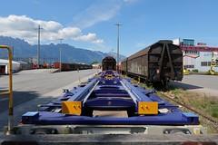 Buchs SG - Container Car Sgmmns 40' (Kecko) Tags: 2019 kecko switzerland swiss schweiz suisse svizzera ostschweiz rheintal buchs sg railway railroad eisenbahn bahn sbb containertragwagen vtg aae güterzug cargo train zug bahnhof station swissphoto geotagged geo:lat=47167720 geo:lon=9480300