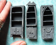 Cardboard bookcases for Corpse Bride dollhouse (redmermaidwerewolf) Tags: miniature miniatures doll house dollhouse corpse bride tim burton cardboard furniture tiny toys handmade hand made craft crafts gothic nightmare before christmas xmas jack sally victor victoria