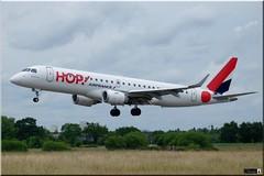 Embraer ERJ-190STD, HOP!, F-HBLK (OlivierBo35) Tags: spotter spotting planespotting embraer emr190 hop rennes rns lfrn