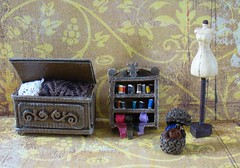 Victoria's sewing room miniatures (redmermaidwerewolf) Tags: miniature miniatures doll house dollhouse corpse bride tim burton cardboard furniture tiny toys handmade hand made craft crafts gothic nightmare before christmas xmas jack sally victor victoria