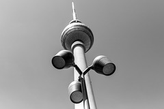 (Feininger's Cat (Thanks for over 1.2 million views) Tags: leica leicam leicam8 blackandwhite summicronm35 summicron summicronm35mmf2asph architecture berlin alexanderplatz fernsehturm