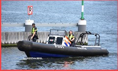 Dutch Police P501. (NikonDirk) Tags: water ship p501 amsterdam harbor infra politie police nikondirk boat rhib vessel nederland netherlands holland nikon cop cops hulpverlening dutch seaport waterpolitie foto harbour patrols port marine maritime nautical bay constables river unit infrastructure dienst infrastructuur dvp dwp spopo dsp boot ribcraft