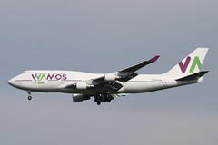 EC-KXN 747-4H6 Wamos Air Stansted 2.6.19 (Colin Cooke Photo) Tags: eckxn 7474h6 wamos air stansted 2619