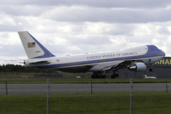 United States Air Force (USAF) VC-25A 92-9000 at London Stansted STN/EGSS (dan89876) Tags: united states air force usaf boeing vc25a 29000 london stansted airport stn egss takeoff 22 donald trump president america mega af1 one