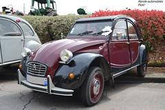 Citroën 2cv Charleston (Monde-Auto Passion Photos) Tags: voiture vehicule auto automobile citroën 2cv deuche deudeuche ancienne classique collection charleston bic bicolore red rouge noir black rassemblement france courtenay