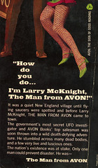 Avon Books G1307 - Michael Avallone - The Man from Avon (back) (swallace99) Tags: vintage 60s paperback adventure avon