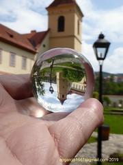 Into the ball (eugenioperegringarcia) Tags: glassballs ceskykrumlov repúblicacheca crystalball torre monasterio monasteryoftheminoritesofthepoorclares clarisas czech