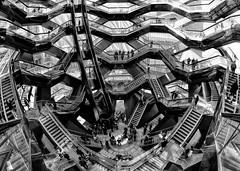 The Vessel in NYC (B&W version) (WilliamND4) Tags: nyc vessel newyorkcity new york monument stairs blackandwhite nikon nikond750