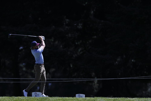 Jimmy Jones plays in the final round of the Bayview Place DCBank Open