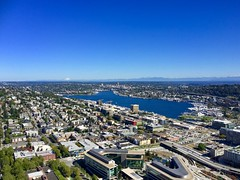 Seattle aerial view from the space needle