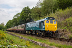 D7535 Tenbury Wall (Erlestoke7812) Tags: diesel locomotive train railway british uk severnvalley severnvalleyrailway heritage heritagetraction ukheritagehub vintage ukrailscene britishrailways worcestershire blue sulzer babysulzer class25 d7535 southdevontractiongroup southdevonrailway tenburywall