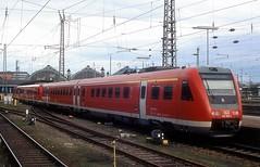 612 008 + 104  Karlsruhe Hbf  29.03.05 (w. + h. brutzer) Tags: karlsruhe eisenbahn eisenbahnen train trains deutschland germany railway triebwagen triebzug triebzüge 612 db webru analog nikon