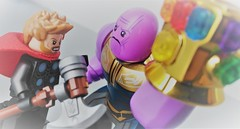 """""""You should have gone for the head."""" (Maxime McFly) Tags: lego avengers thor thanos infinity war gauntlet go for head endgame marvel mcu super heroes fake"""