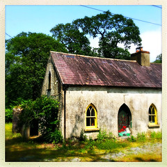 Peeling Paint (Julie (thanks for 9 million views)) Tags: 100xthe2019edition 100x2019 image65100 window wall hww building wexford trees ireland irish hipstamaticapp cottage old door texture peelingpaint