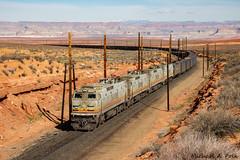 NDEM EA022 @ Page, AZ (Michael Polk) Tags: ndem ea022 arizona black mesa lake powell coal train freight electric railroad desert ge general e60c2