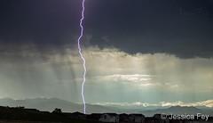 June 3, 2019 - Lightning pops over Thornton. (Jessica Fey)