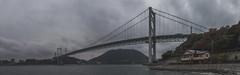 Entre Kyushu et Honshu (stephanexposeinjapan) Tags: japon japan asia asie stephanexpose canon 600d 1635mm panoramique panorama pont bridge mer sea eau water shimonoseki mojiko